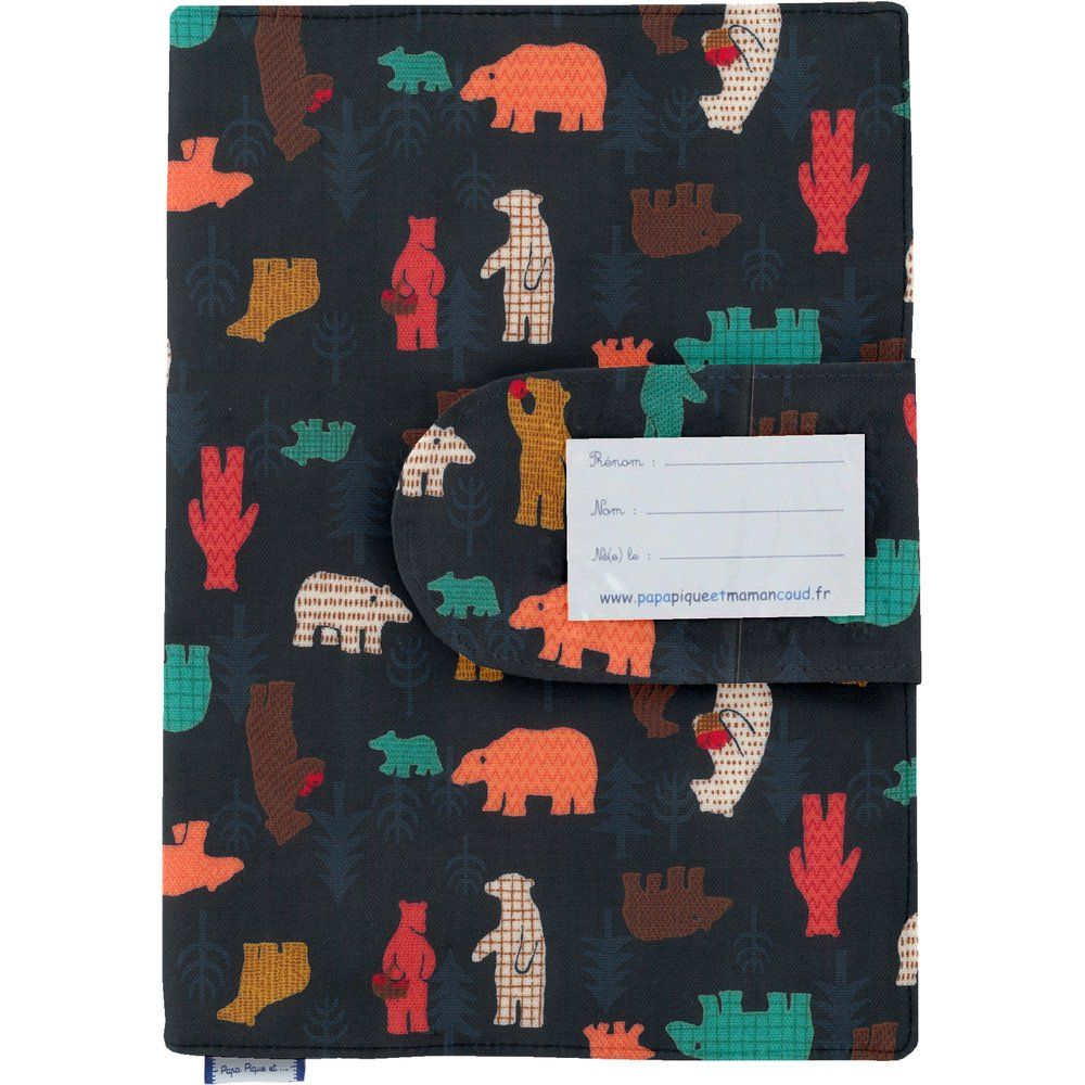 Funda de cartilla sanitaria grizzly