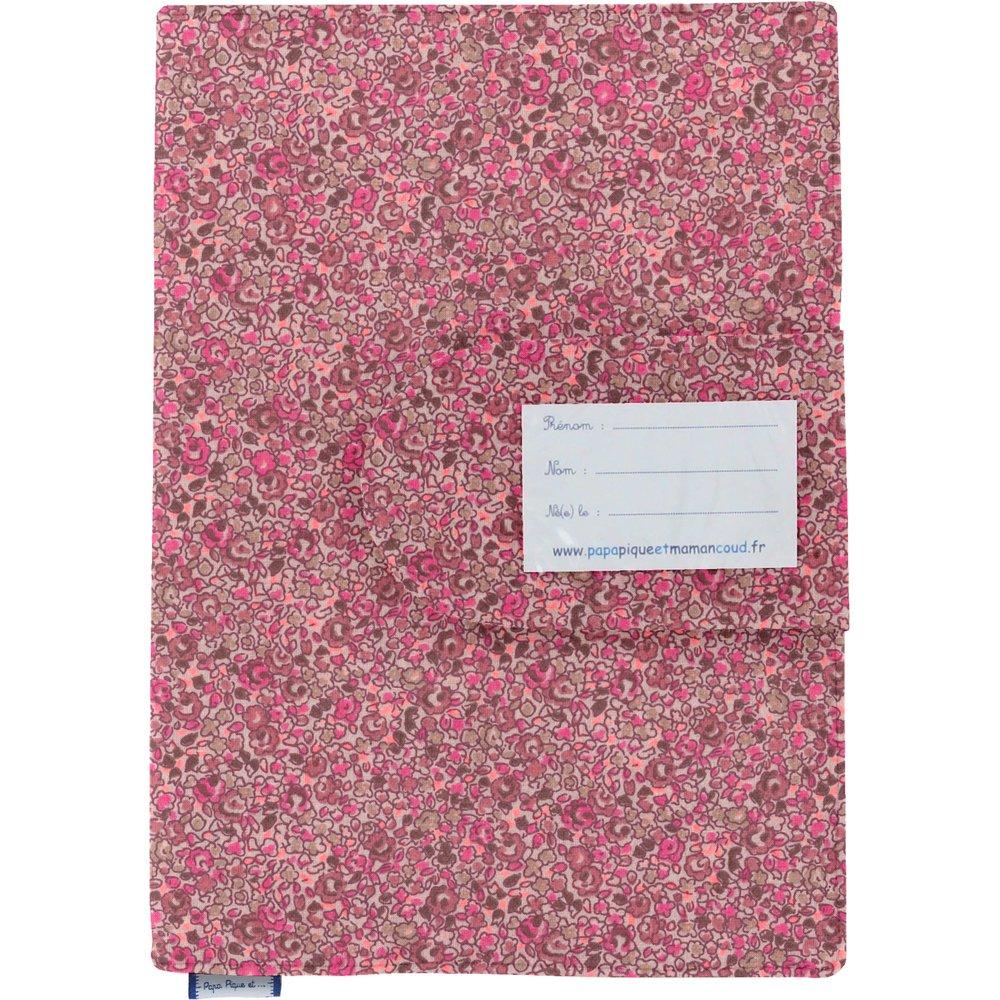 Protège carnet de santé lichen prune rose