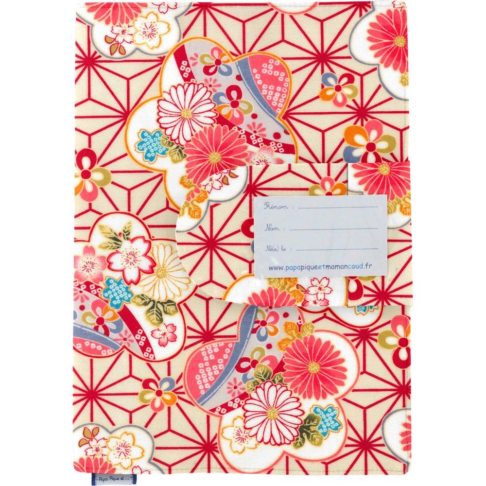 Protège carnet de santé  origamis fleuris