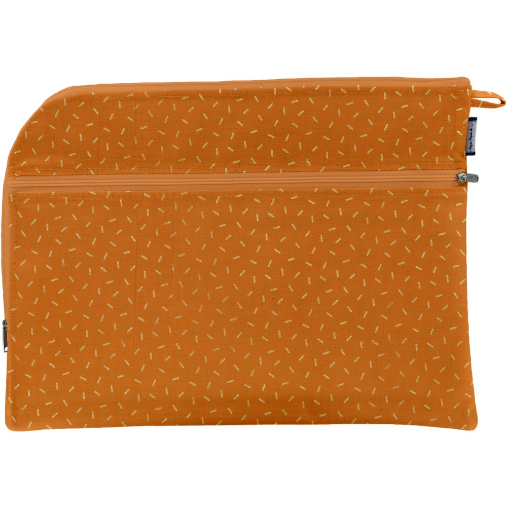 Document Holder A4  caramel golden straw