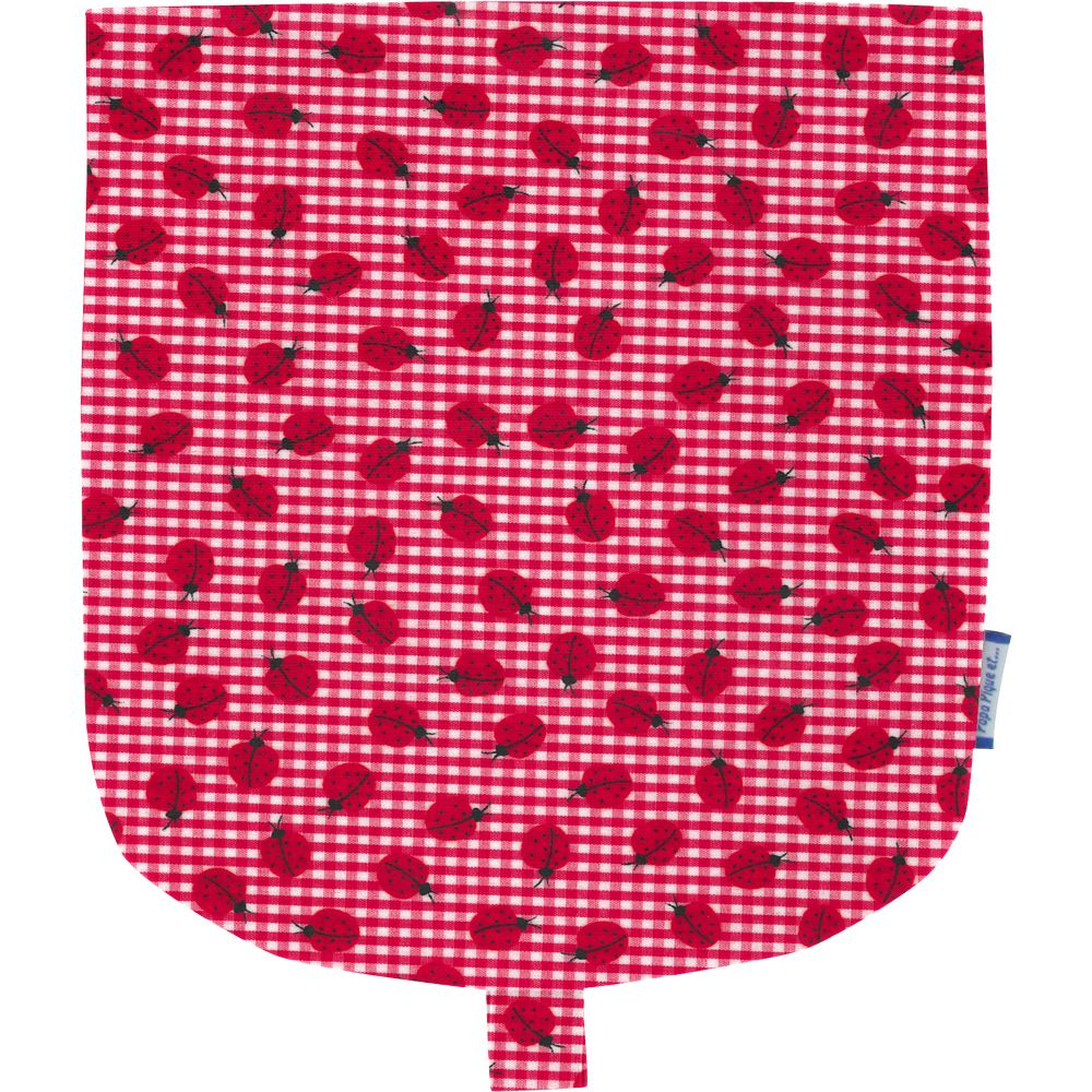 Flap of small shoulder bag ladybird gingham