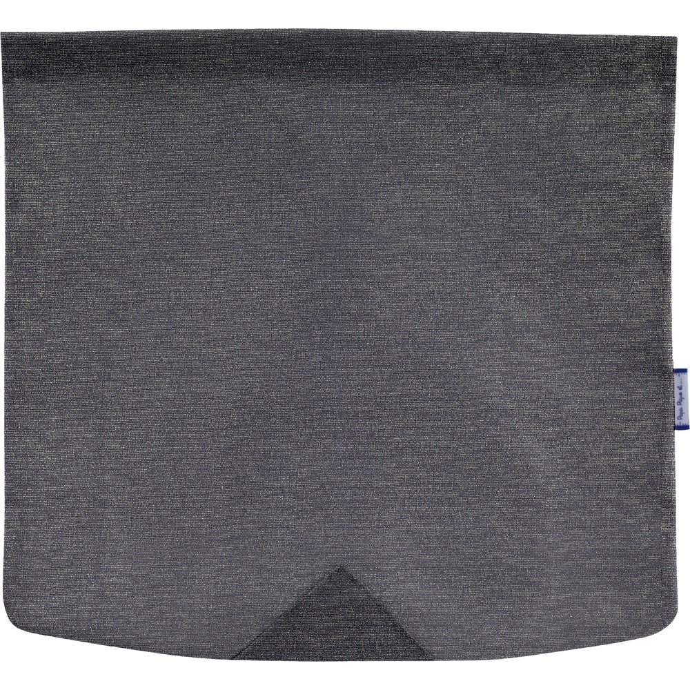 Square flap of saddle bag  silver gray