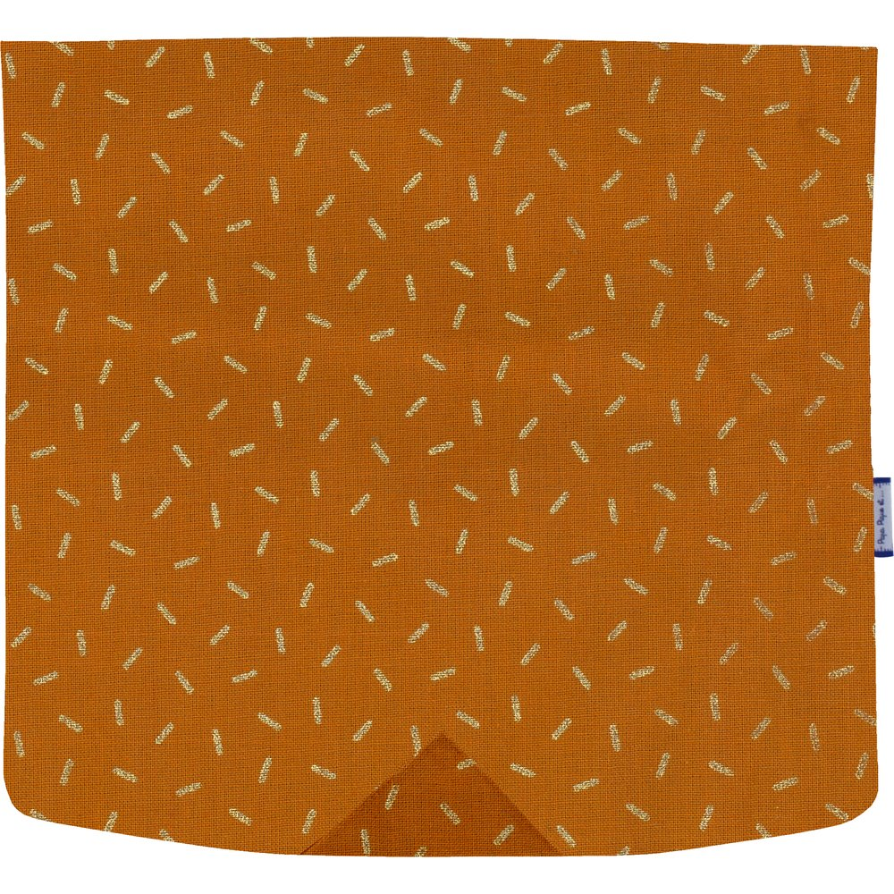 Square flap of saddle bag  caramel golden straw