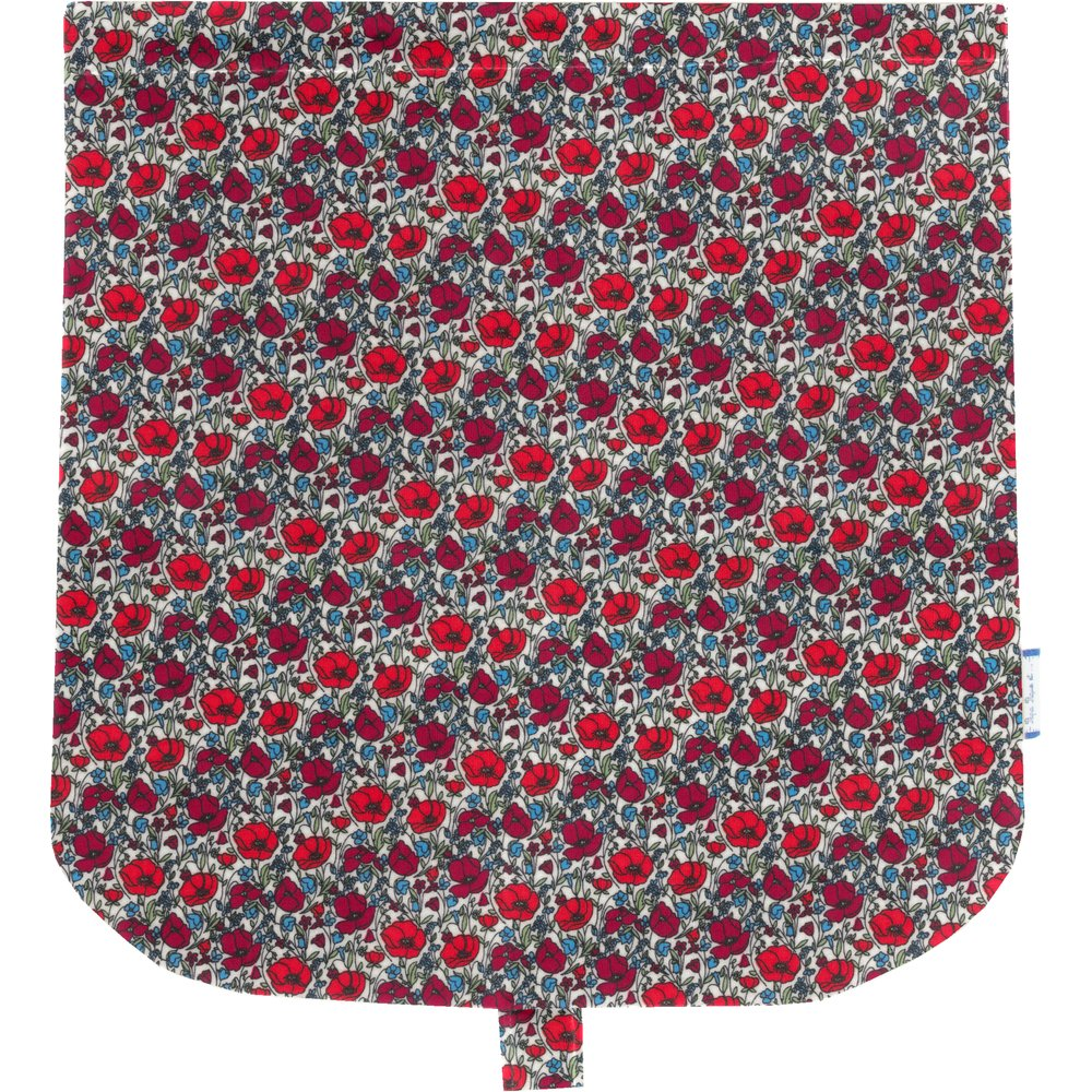 Flap of saddle bag poppy