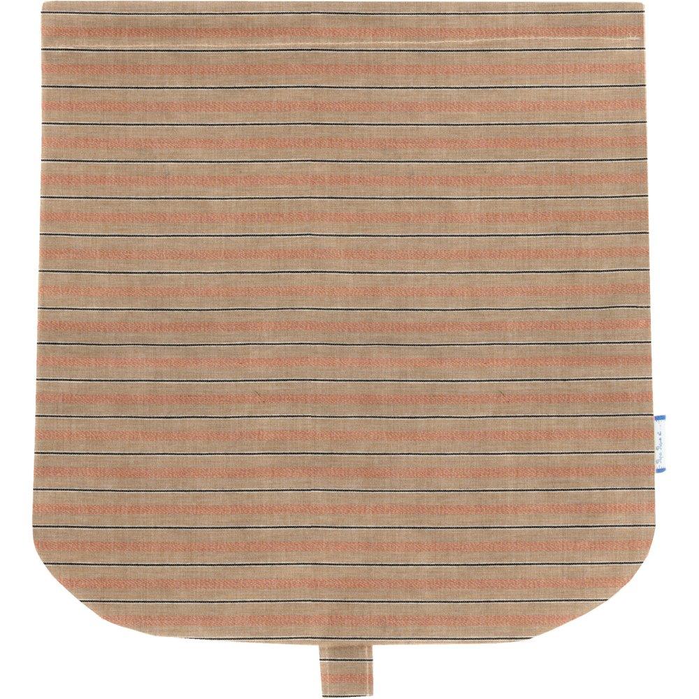 Rabat besace rayure bronze cuivrée