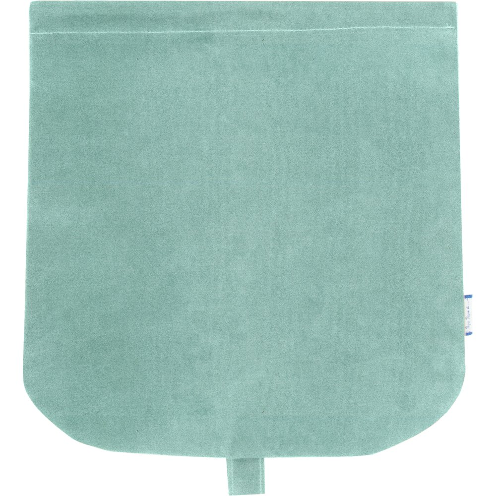 Flap of saddle bag suédine bleu nordique