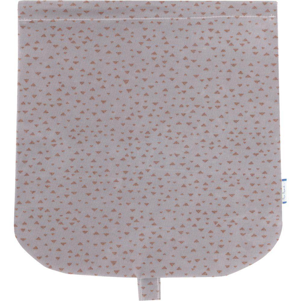 Tapa de bolso cruzado triangle cuivré gris