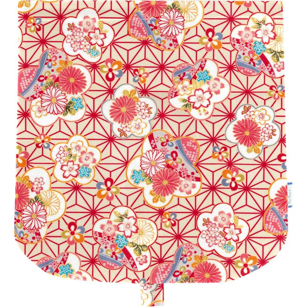 Rabat besace  origamis fleuris