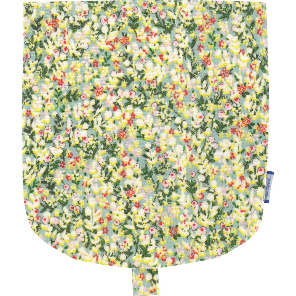 Flap of small shoulder bag menthol berry