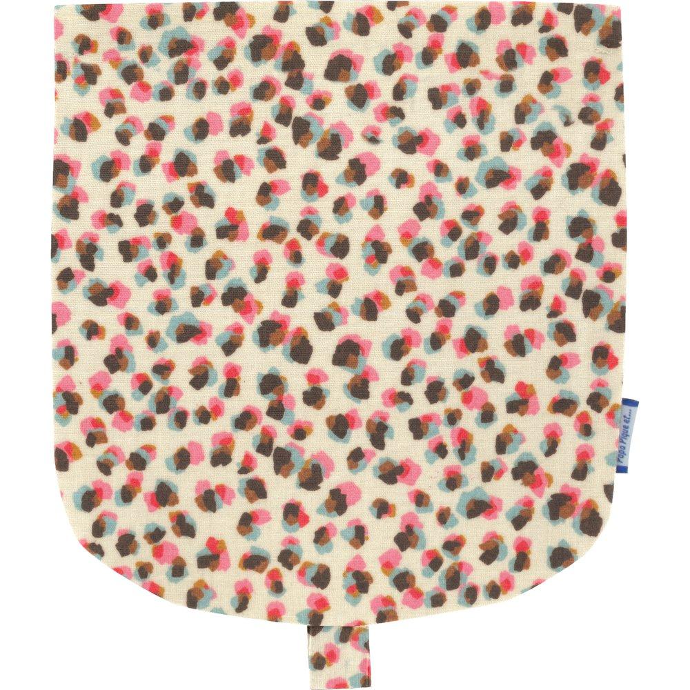 Flap of small shoulder bag confetti aqua