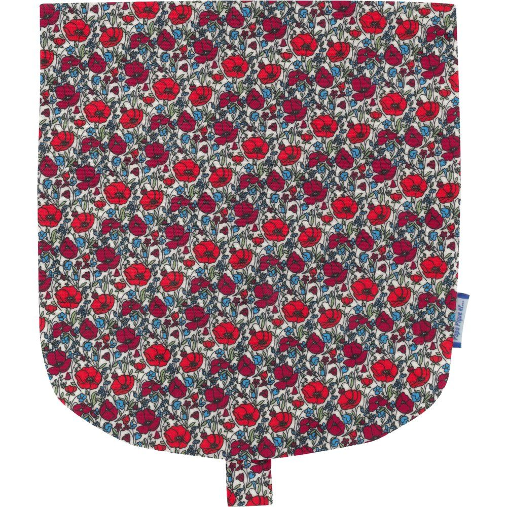 Flap of small shoulder bag poppy