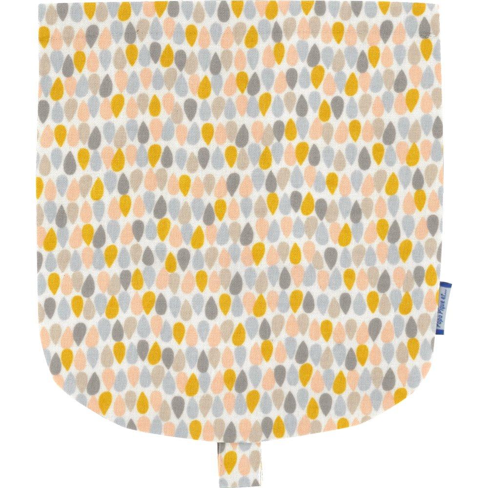 Flap of small shoulder bag pastel drops