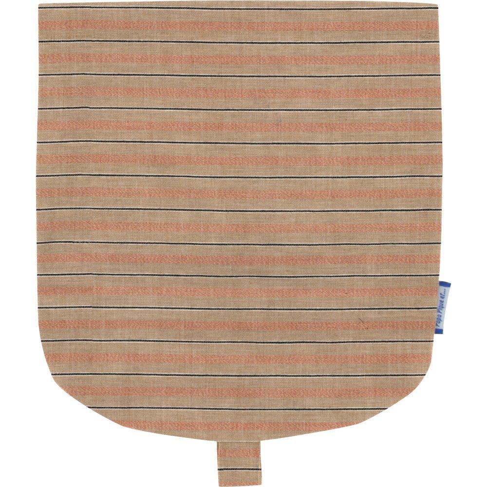 Rabat petite besace rayure bronze cuivrée