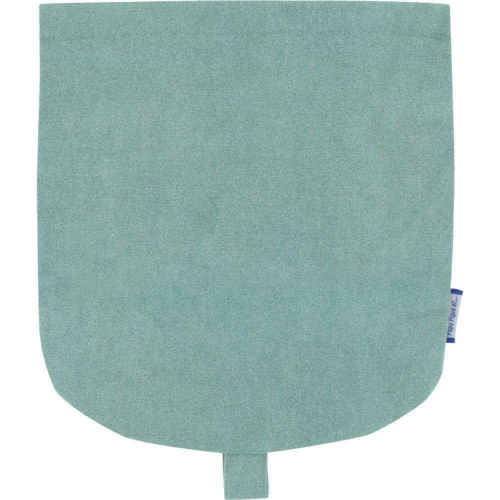 Flap of small shoulder bag suédine bleu nordique
