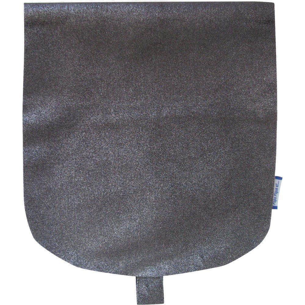 Flap of small shoulder bag suédine noire