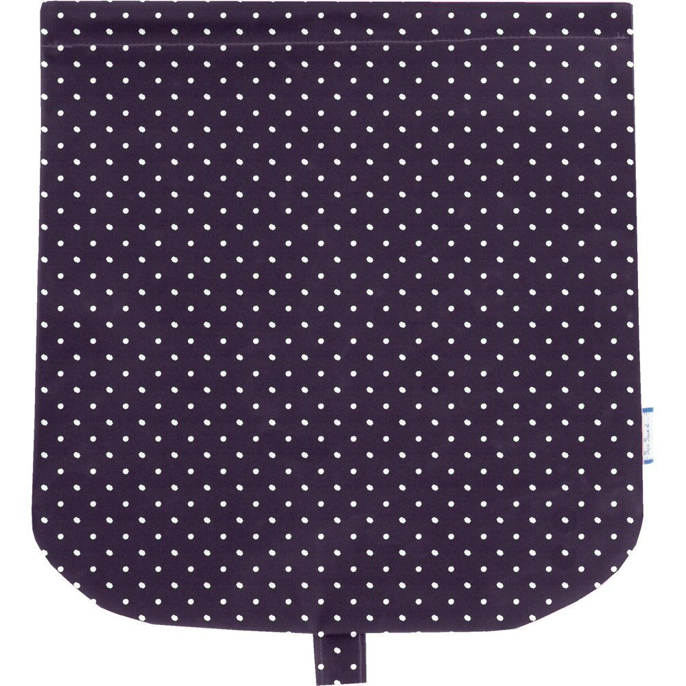 Flap of saddle bag plum spots