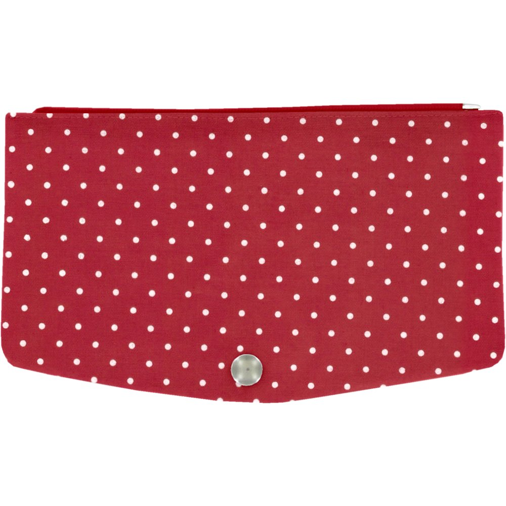 Flap of fashion wallet purse red spots