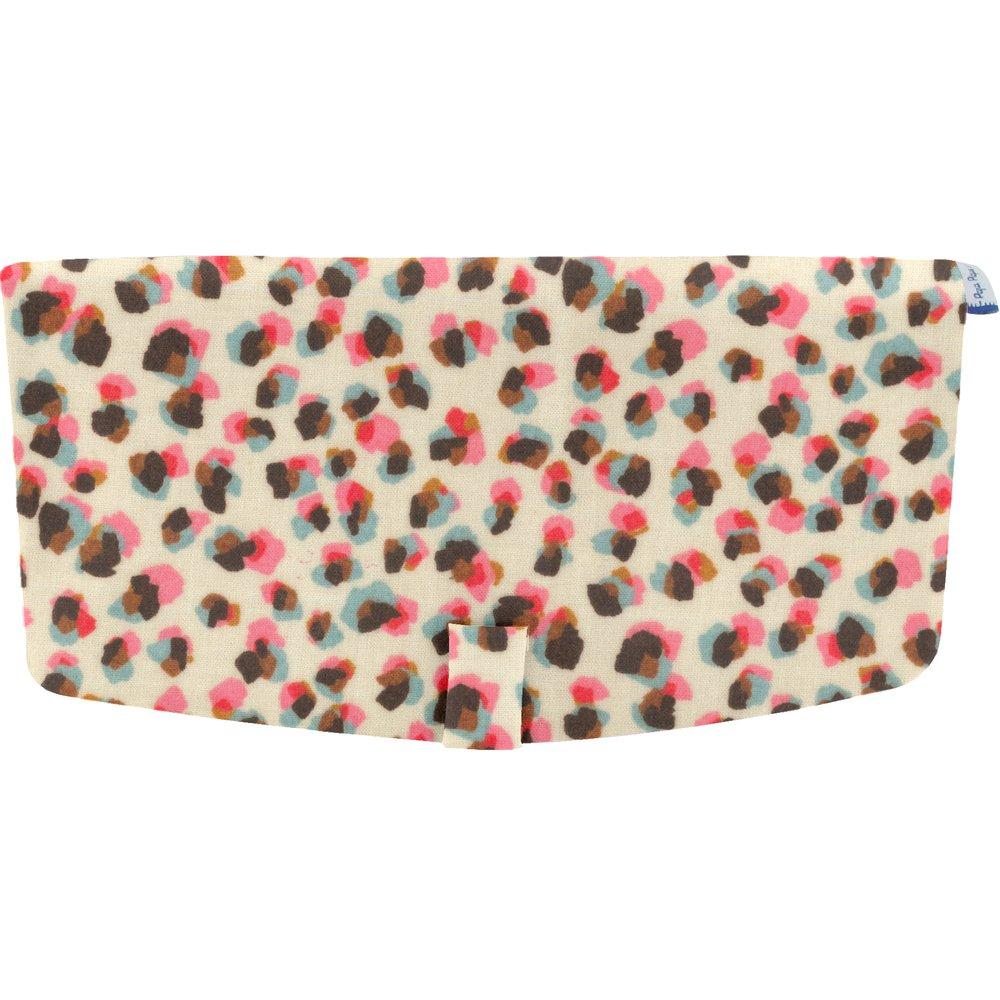 Flap of shoulder bag confetti aqua