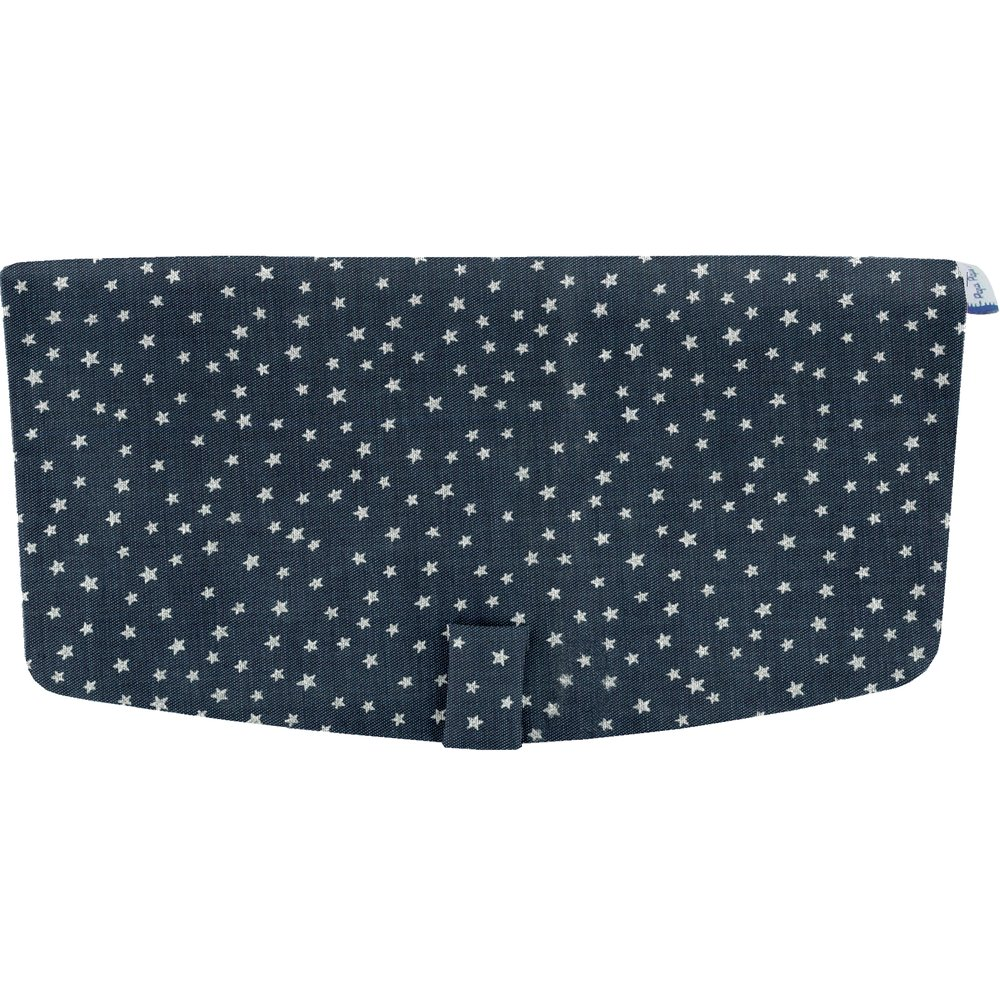 Flap of shoulder bag silver star jeans