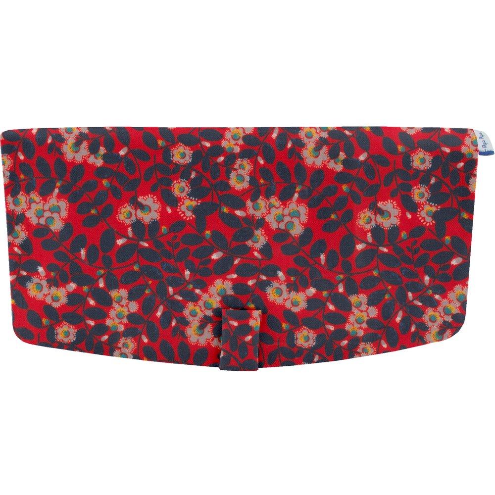 Flap of shoulder bag vermilion foliage