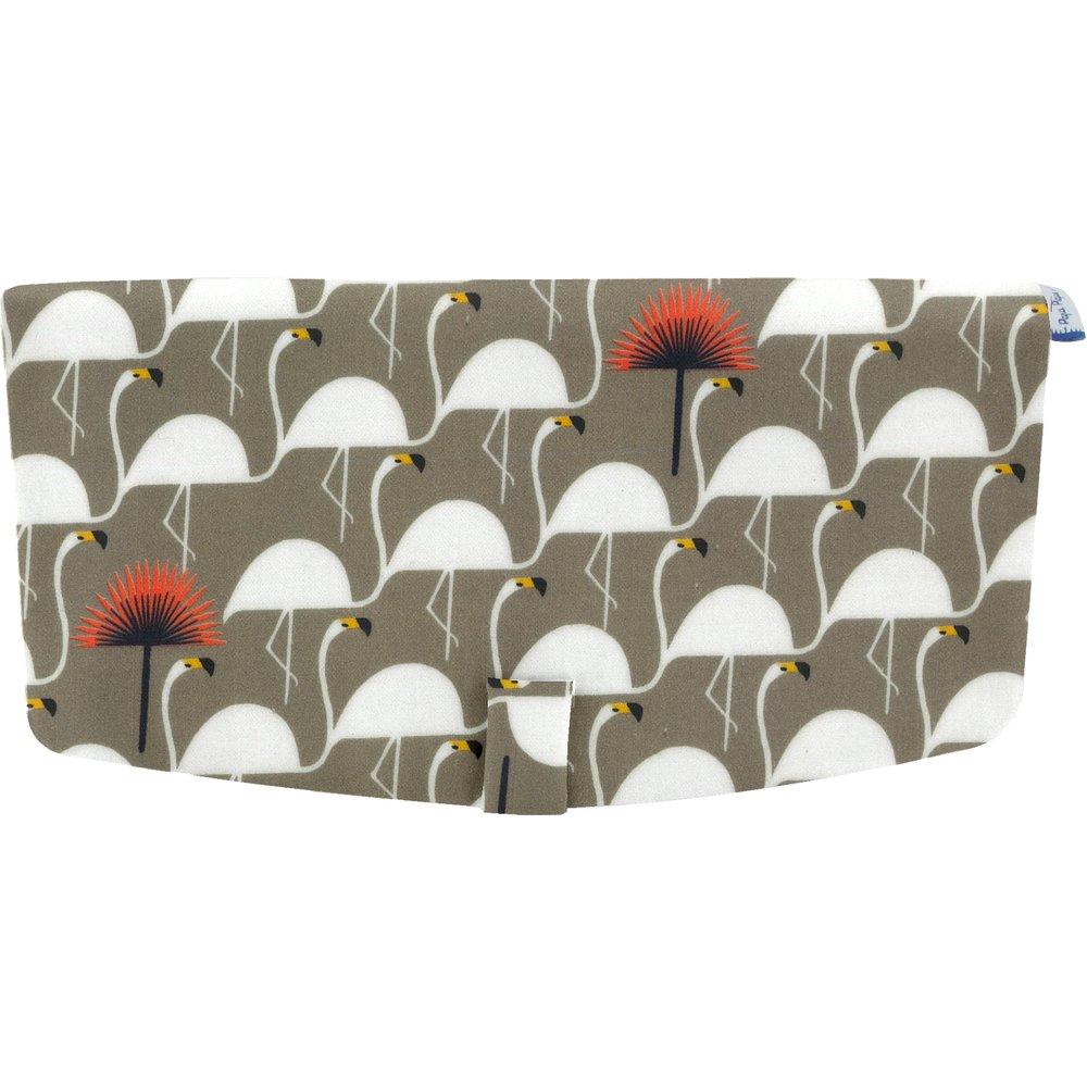 Flap of shoulder bag flamingo