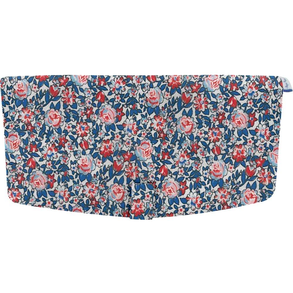 Flap of shoulder bag flowered london