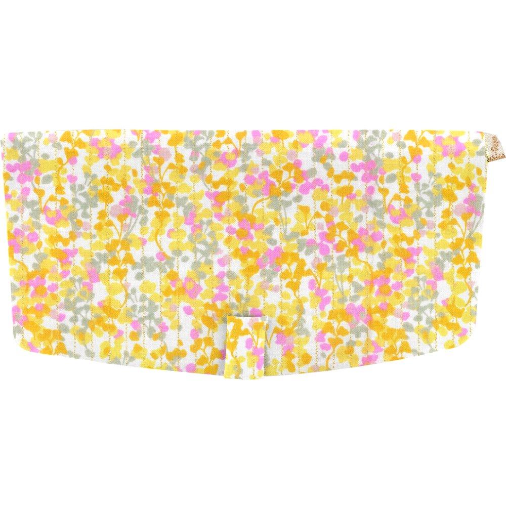 Flap of shoulder bag mimosa jaune rose