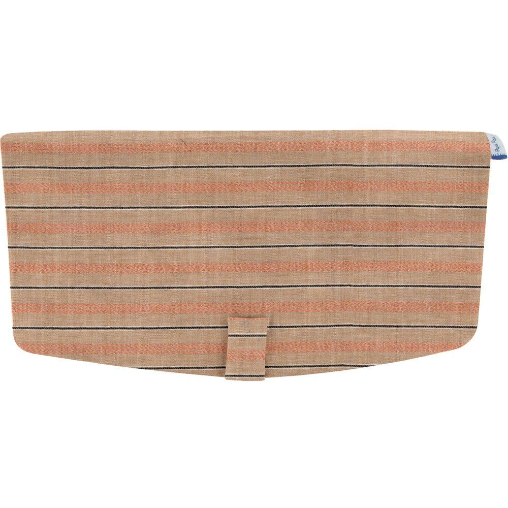 Flap of shoulder bag bronze copper stripe