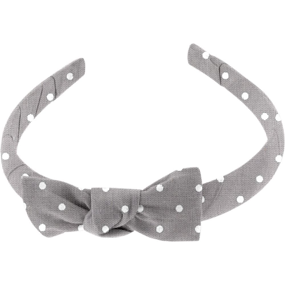 Medium headband light grey spots