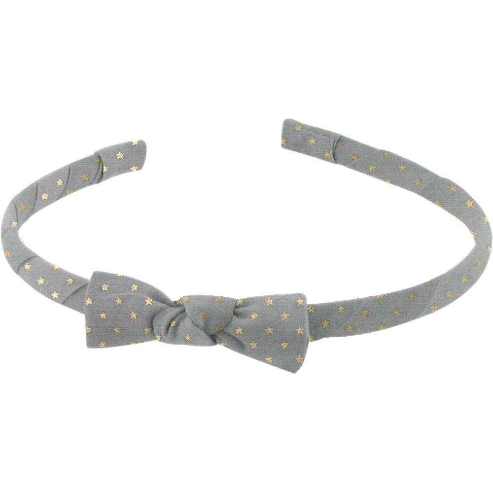 Thin headband grey gold star