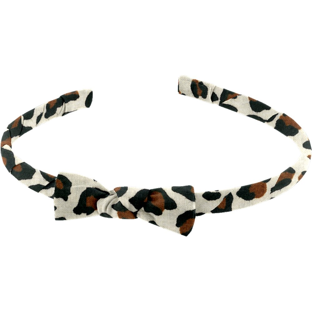 Thin headband leopard print