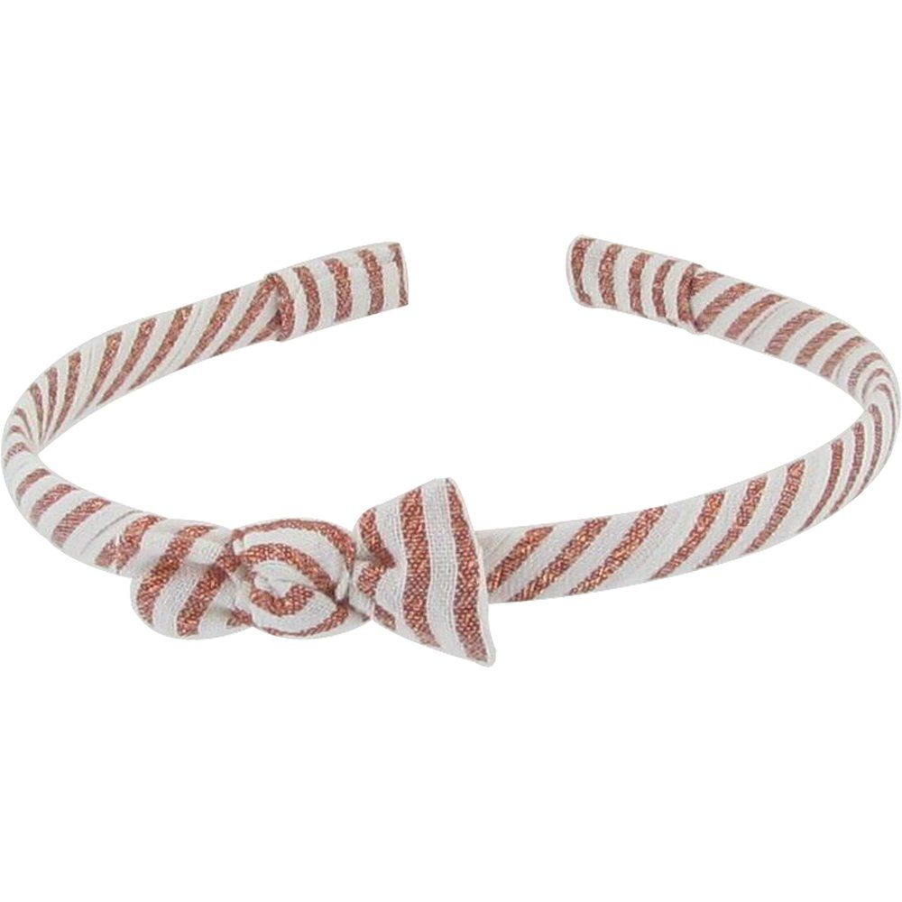 Thin headband copper stripe
