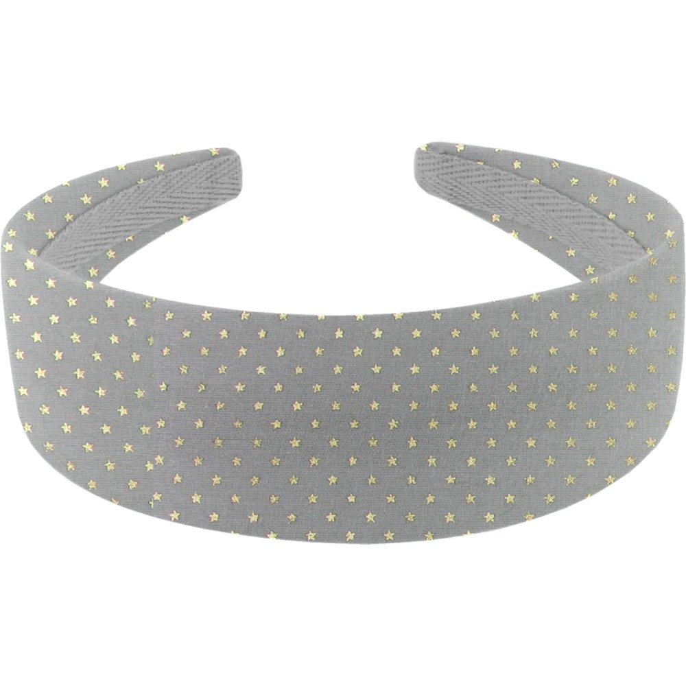 Wide headband etoile or gris