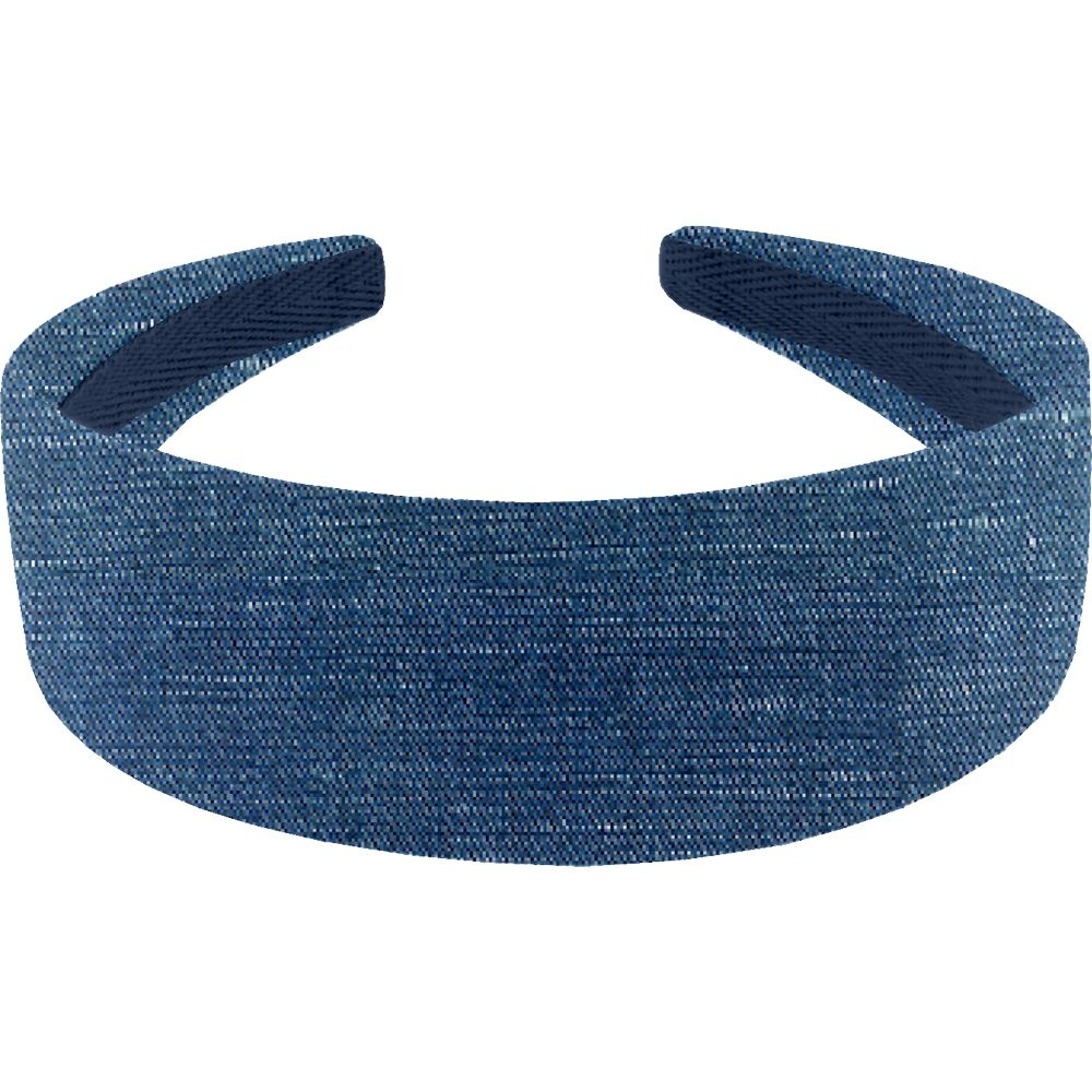 Wide headband light denim