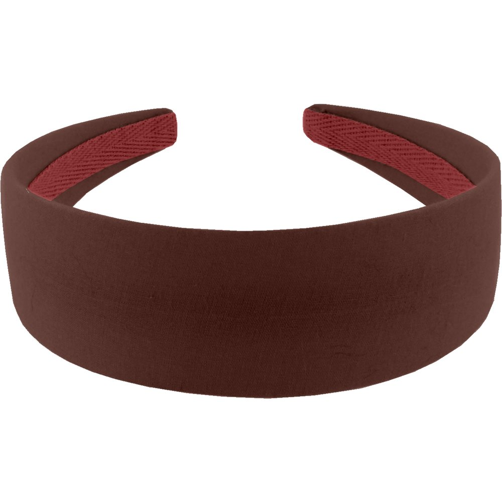 Wide headband brown