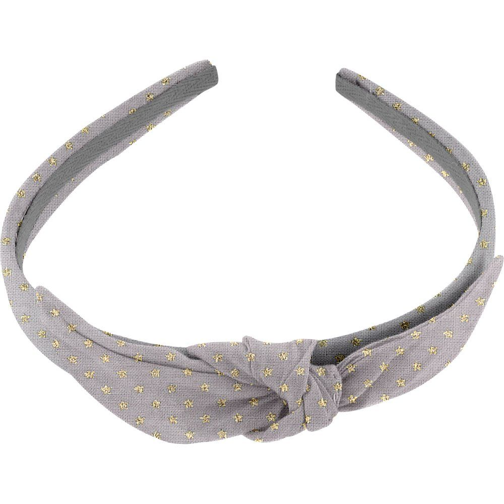 Diadema con nudo etoile or gris