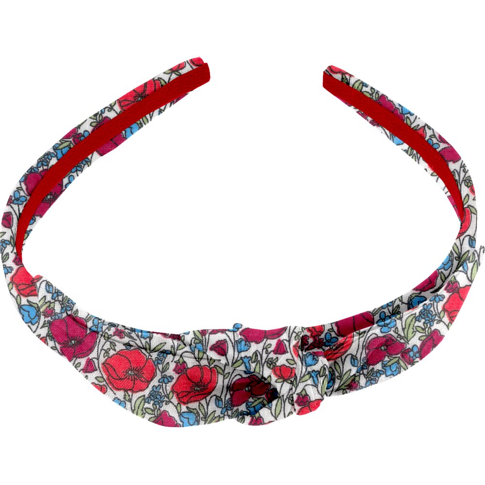 bow headband poppy