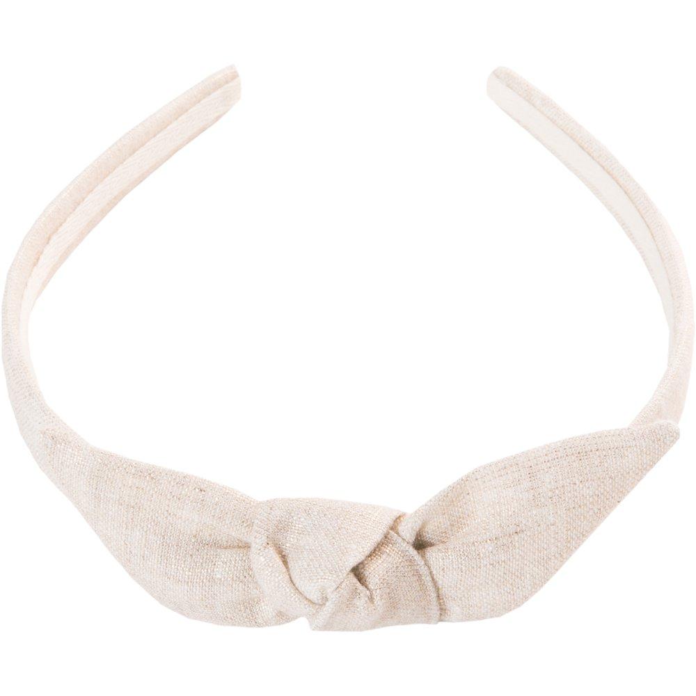 Serre-tête noeud  lin pailleté