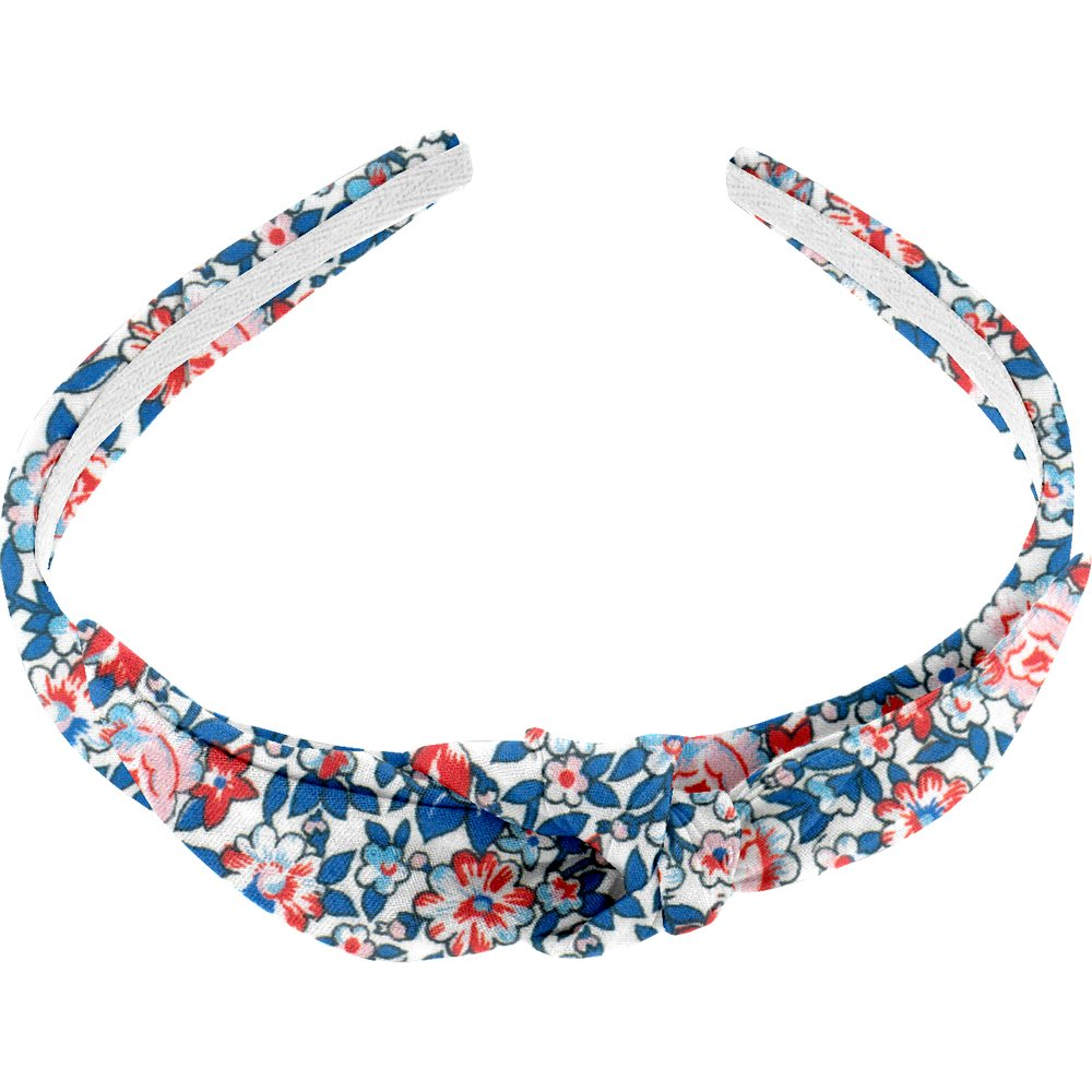 Serre-tête noeud london fleuri