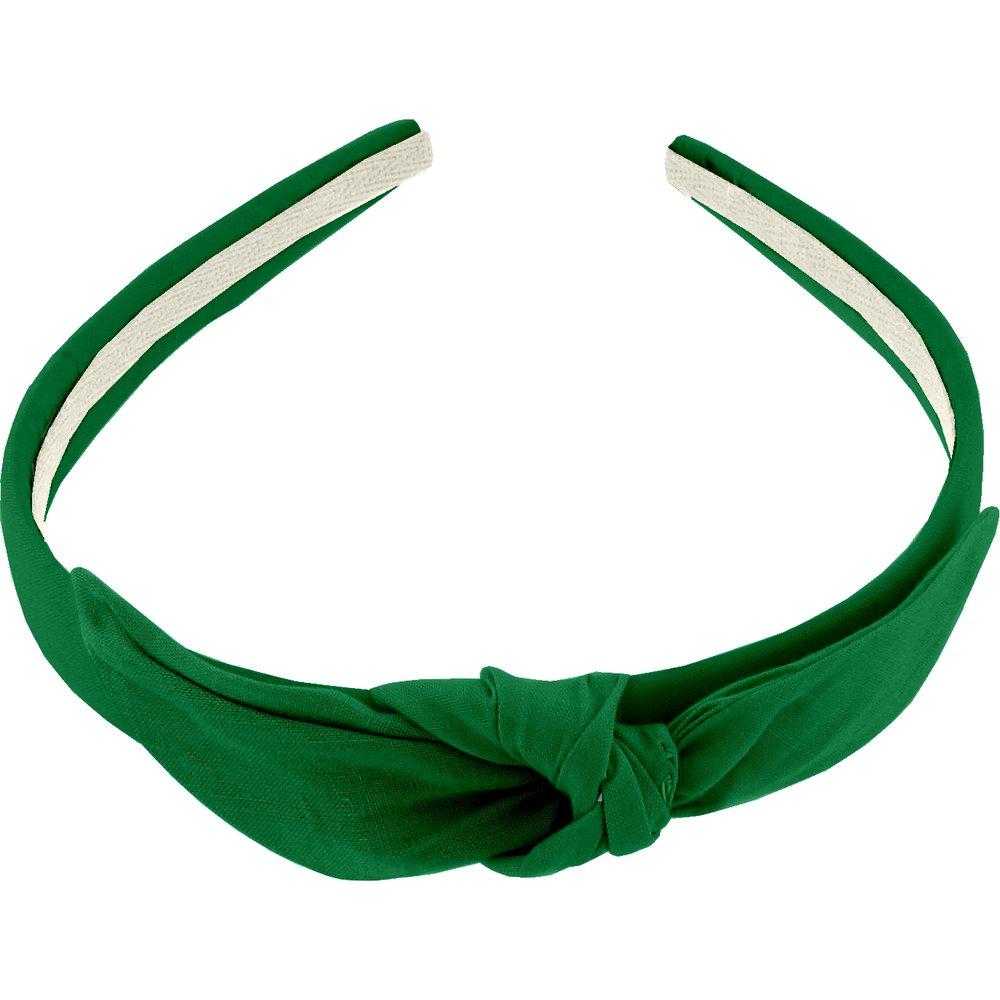 Serre-tête noeud vert vif