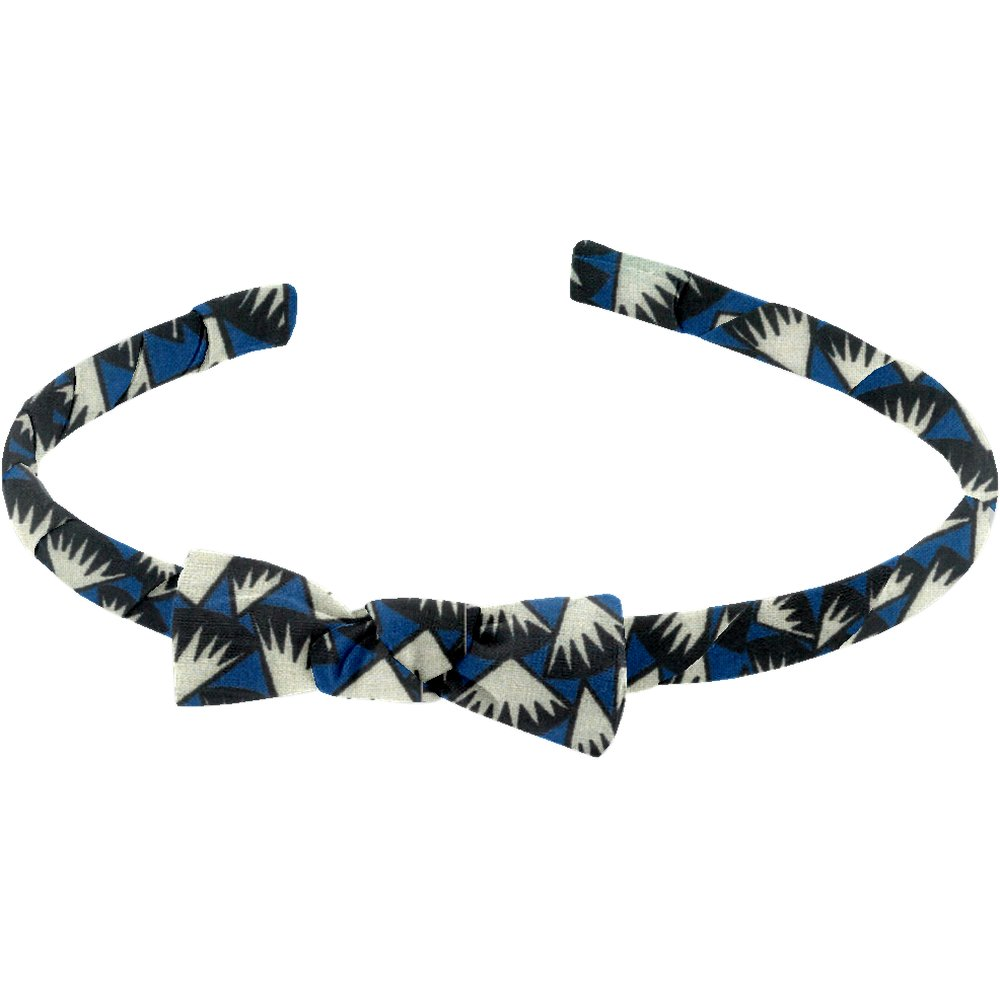 Diadema fina piezas azul noche