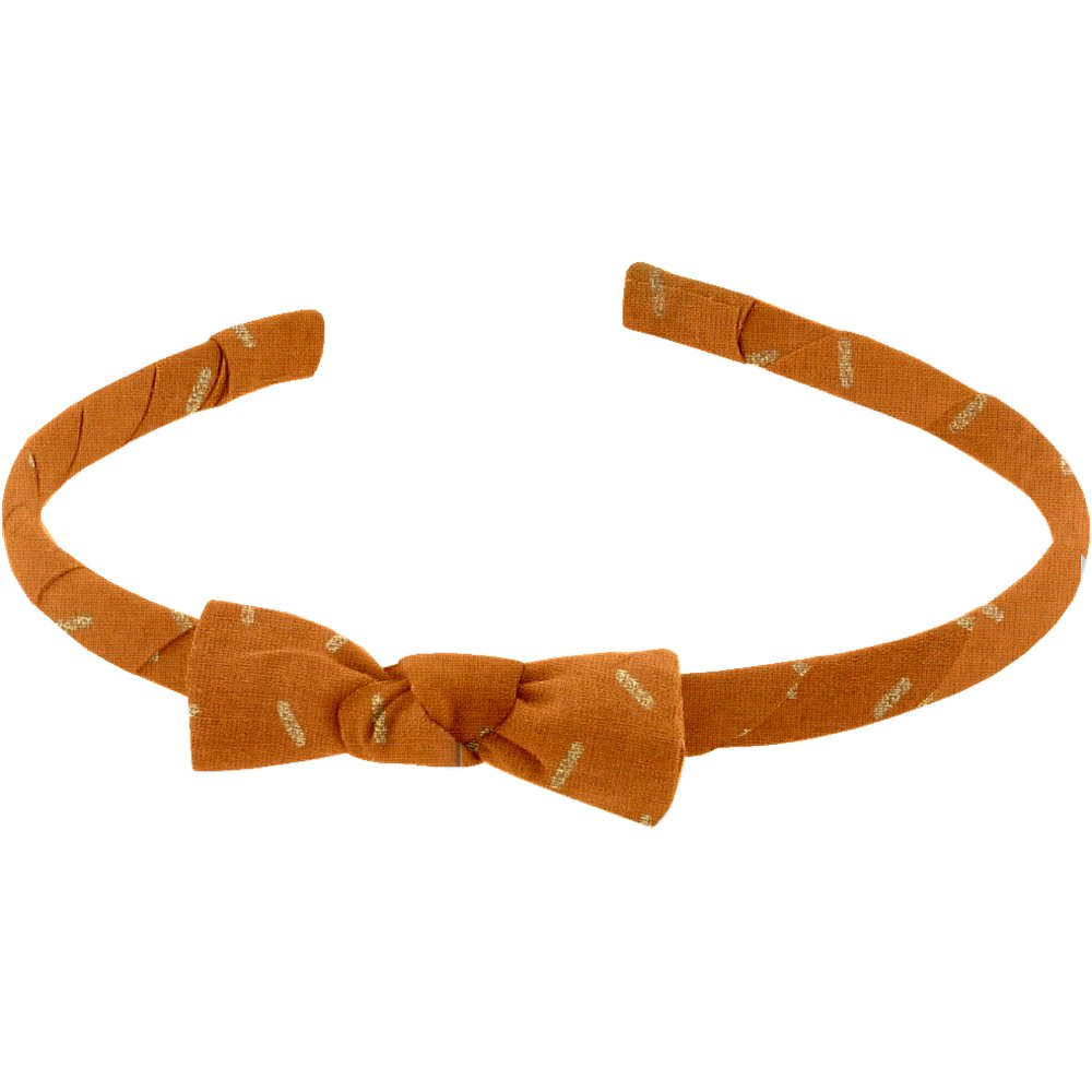 Thin headband caramel golden straw