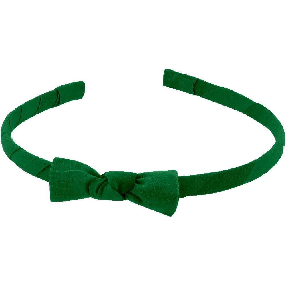 Diadema fina verde brillante