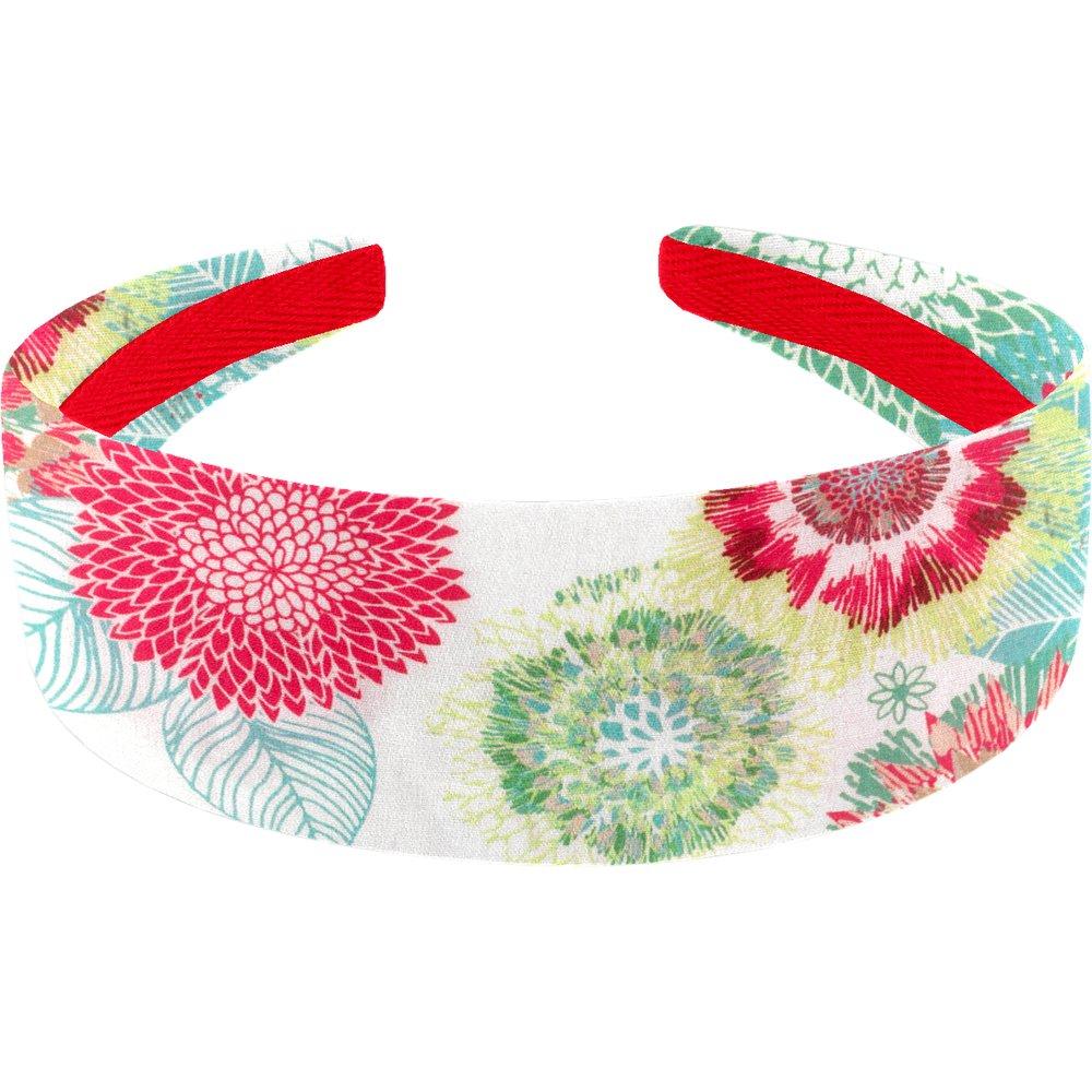 Wide headband powdered  dahlia