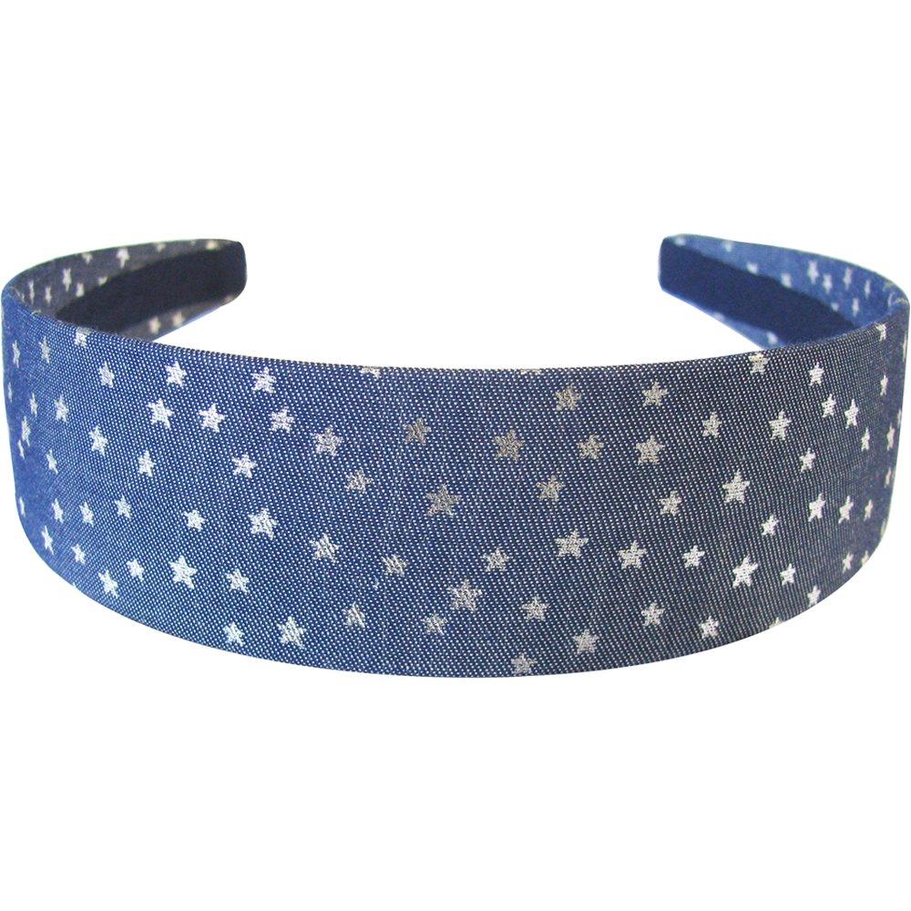 Wide headband etoile argent jean