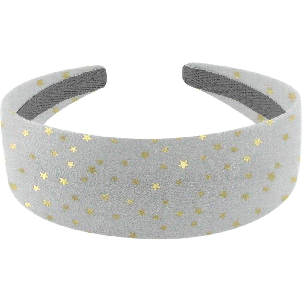 Wide headband etoile or gris