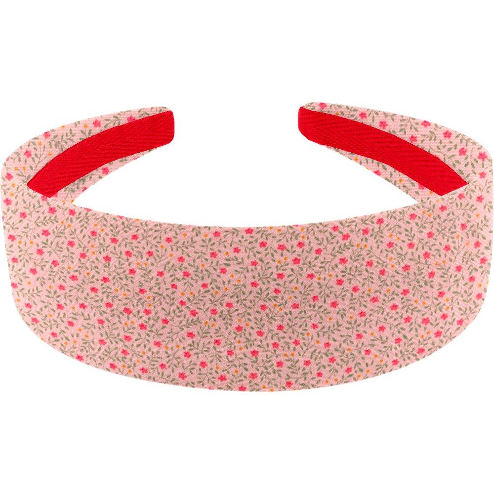 Wide headband mini pink flower