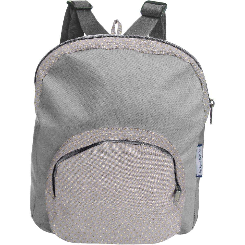 Children rucksack etoile or gris