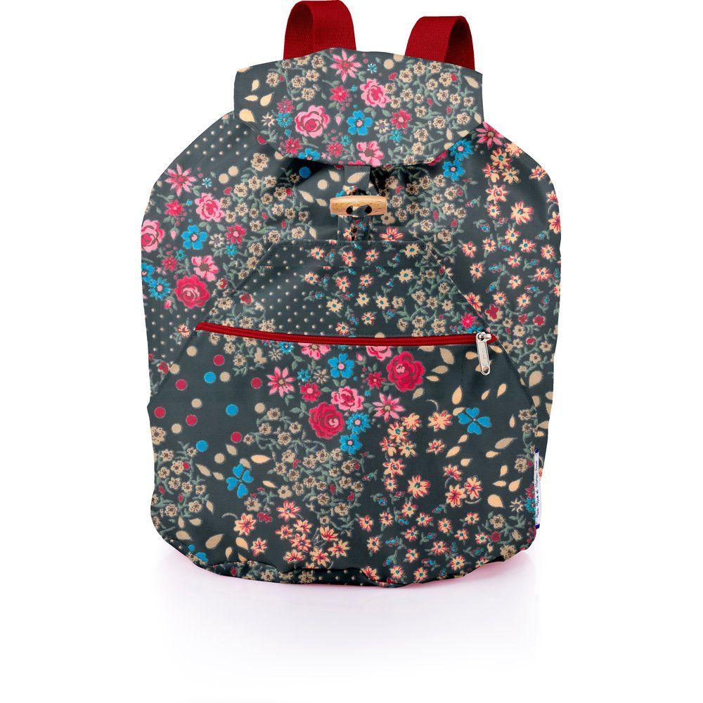 Petit sac à dos plastifié rose argentée