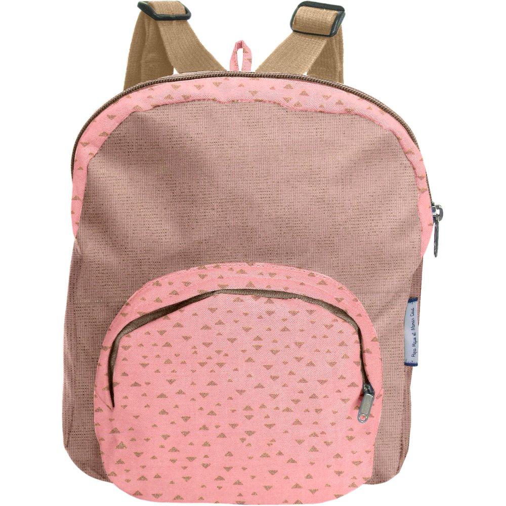 Petit sac à dos  triangle or poudré